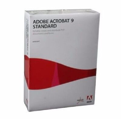 Brand New Adobe Acrobat 9 Standard for Windows