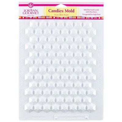(LorAnn Hexagon Break Up Apart Hard Candy White High Temp Candies Hex Sheet Mold )