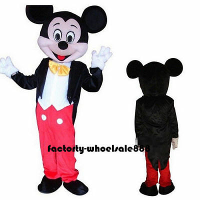 Crazy Sale Mickey Mouse Mascot Costume Fancy Party Dress Adults Size Suit cheap  (Mascot Costumes Cheap)