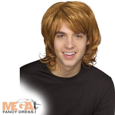 70s Shag Blonde Wig Men's 1970s Fancy Dress Bee Gees 70's Celebrity Adult Wig
