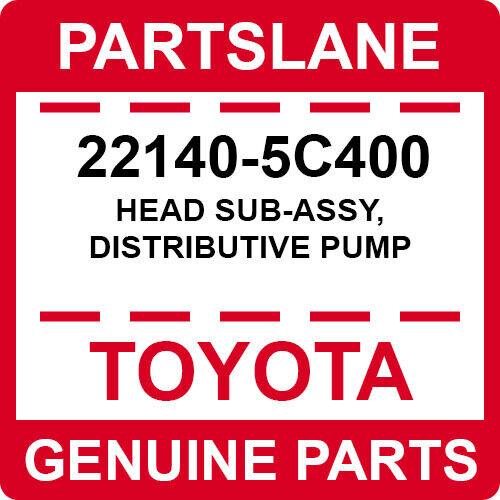 22140-5c400 Toyota Oem Genuine Head Sub-assy, Distributive Pump
