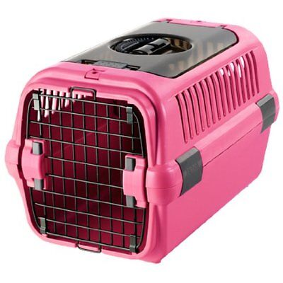 New Richell Double Door Pet Carrier Bag Case M Pink Travel Dog from Japan