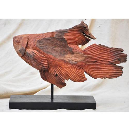 Koi fish statue ebay for Koi fish statue