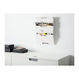 Ikea magazine rack white