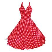 Vintage Polka Dot Dress Red