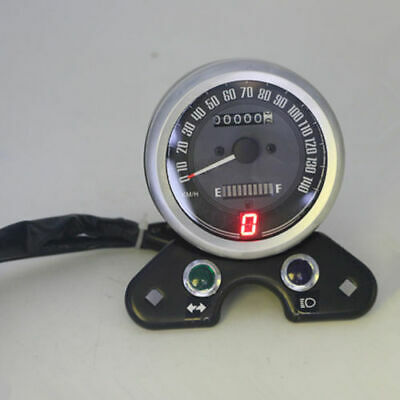 Universal LED Digital LCD Odometer Speedometer Oil Gauge Motorcycle Scooter ATV