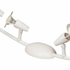 Shuttle White 4 Lamp Spotlight Bar