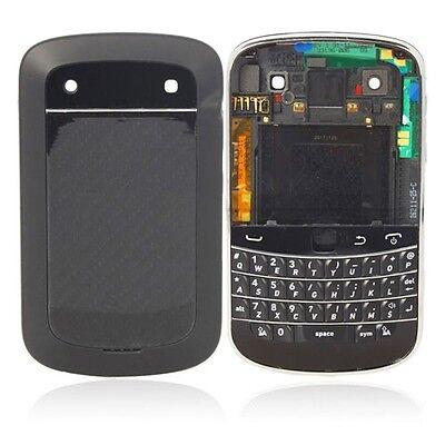 Black Blackberry Faceplates - BLACKBERRY 9900 9930 OEM BLACK FULL HOUSING FACEPLATE FRAME REPLACEMENT REPAIR