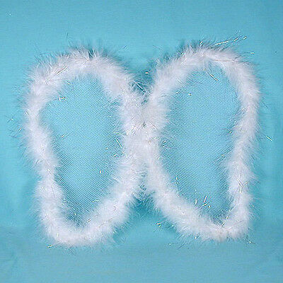 Cheap Marabou Wings With Tinsel Highlights for Angel Costumes (C130) (Cheap Angel Costume)