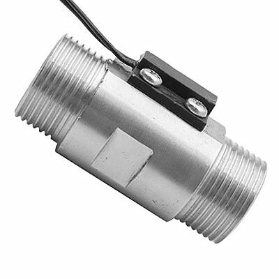 Sus 304 Stainless Steel Magnetic Sensor Water Flow Switch Thread 34 New