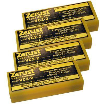 Vapor Capsule Zerust Norust Vc2-2 Pack of 4 Prevent Metal Rust & Corrosion - Vapor Capsule