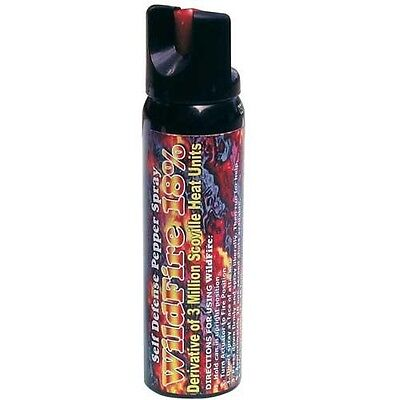 LOT OF (2)- Wildfire 4 oz Ounce 18% Pepper Spray STREAM HOT Self Defense Weapon