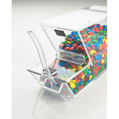 Ice Cream Toppings Bulk Bin - Acrylic Wmagnetic Lid And External Spoon Holder