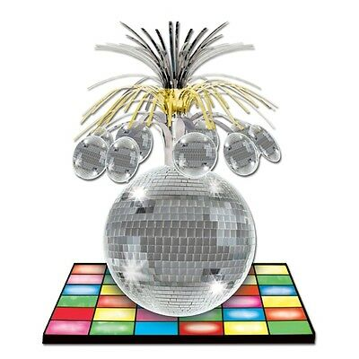 Disco Ball Centerpiece - 33 cm Disco Ball Centerpiece - 70's Party Table Decorations - 1970's Decoration