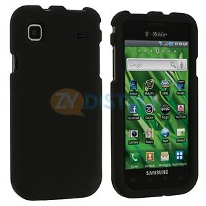 Black Hard Skin Case Cover for Samsung Galaxy S 4G Vibrant T959