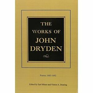003 The Works of John Dryden, Volume III Poems, 16851692 Poems, 16851692 v.