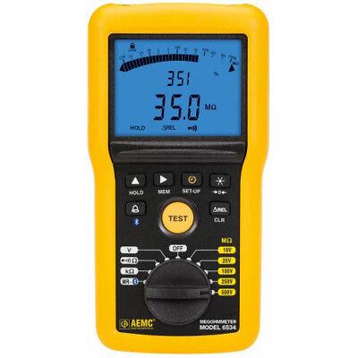 Aemc 6534 2155.55digital Megohmmeterbargraphalarmbt And Software