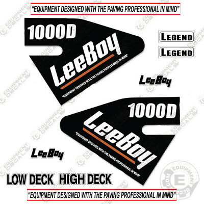 Leeboy 1000d Decal Kit Asphalt Paver Equipment Decals - 7 Year Vinyl