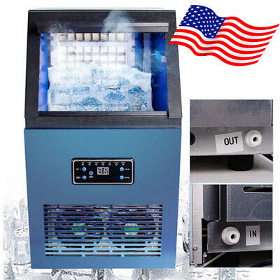 Portable Auto Commercial Ice Maker Cube Machine Stainless Steel Bar 230w Ce Usa