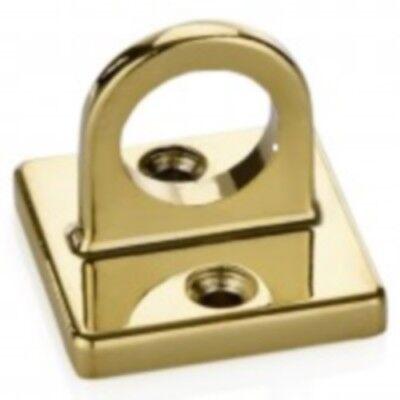 Personenleitsystem Wandhalter für Taue/Kordeln titanium gold