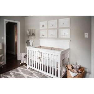 *new/boxed* Concord Baby Payton 4-in-1 Convertible Crib - White