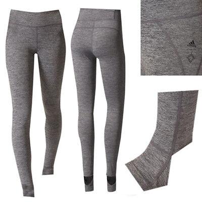 Adidas Vfa Dunkelgrau Polyester Damen Fitnessstudio Sport Trainieren Strumpfhose ()