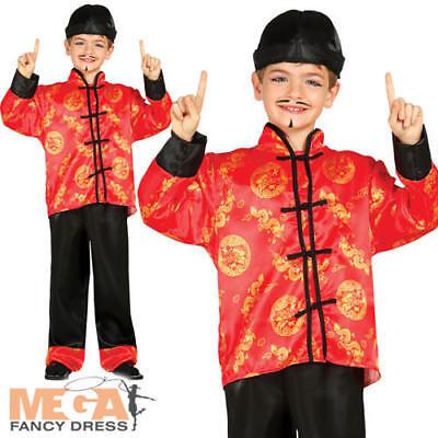 Oriental Boys Fancy Dress Traditional Chinese Qipao Kids Asian Costume Outfit - Asian Boy Kostüm