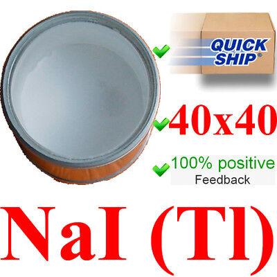 Scintillation Crystal Naitl 40x40 Mm Gamma Scintillator Radiation Detector