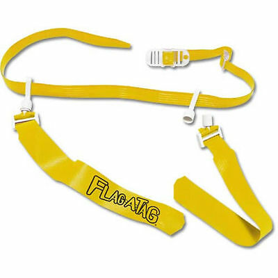 """YELLOW Flag-a-Tag Sonic Boom FLAG Football 1 Single REPLACEMENT BELT  52"""" Waist"""
