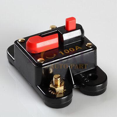 High Power 100 Amp Manual Reset Circuit Breaker 12v Car Auto Boat Audio - High Amp Circuit Breaker Car