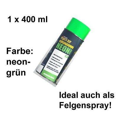 Plasti Dip it SPRÜHFOLIE Felgenfolie Flüssiggummi Neonspray neon-grün 1x 400 ml
