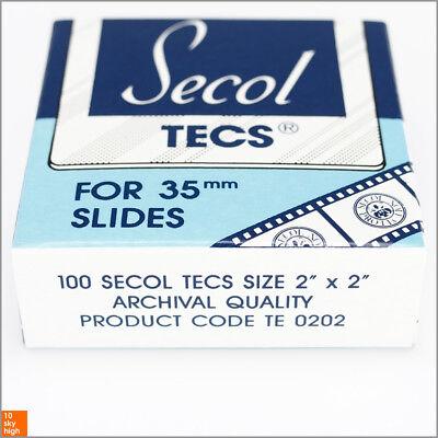 SECOL Tecs TE 0202 Polyester-Schutzhülle für KB-Dia-Rahmen 100 Stück NEU!