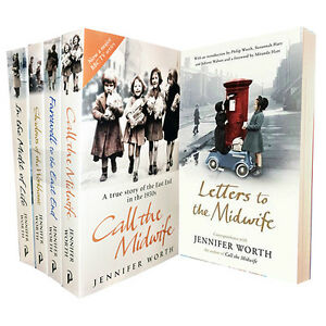 Jennifer Worth 5 Book Collection Set,Call The Midwife,Letters to the Midwife New