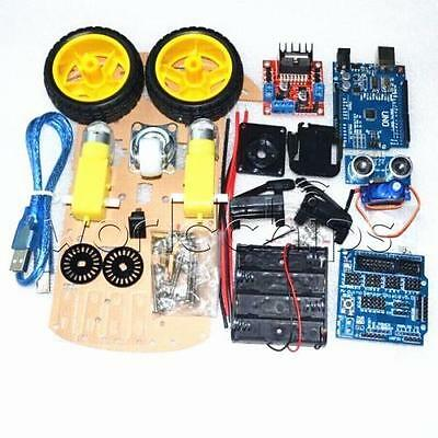 Smart Car Smart Robot Car Chassis Kit Tracking Motor 2wd Ultrasonic Arduino Mcu