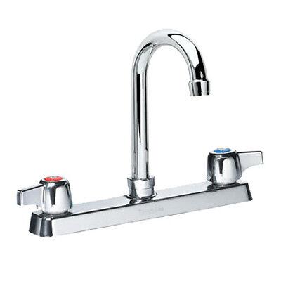 Krowne Metal 13 802L Commercial Deck Mount Faucet 8 1 2  Gooseneck Spout