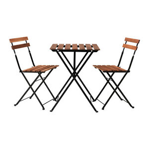 2 Outdoor tables and 4 chairs