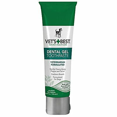 Vet'S Best Enzymatic Dental Gel Toothpaste For Dogs, 3.5 Oz, Usa