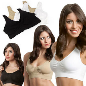 New-Cozy-Seamless-Sports-Leisure-Bra-Support-Vest-White-Black-Nude-Yoga