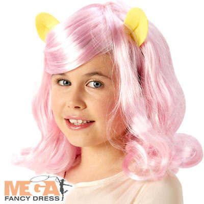 Fluttershy Wig Girls Fancy Dress My Little Pony Kids Childrens Costume Accessory