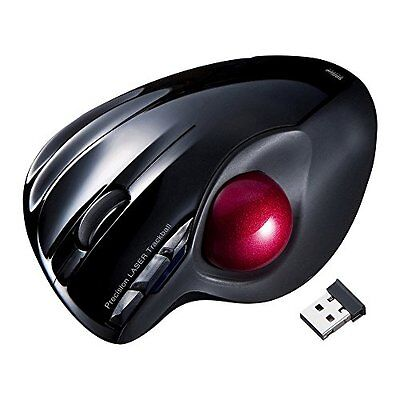 New Sanwa Supply Wireless Laser Mouse With Trackball MA-WTB43BK