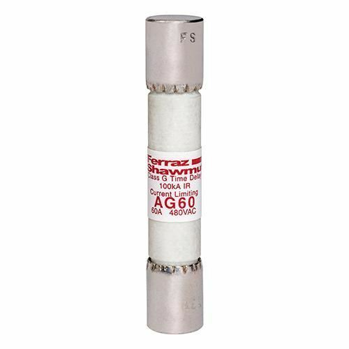 Mersen AG60 60Amp (60A) AG 600V Time-Delay Amp-Trap Class G Pack of 1 Fuses
