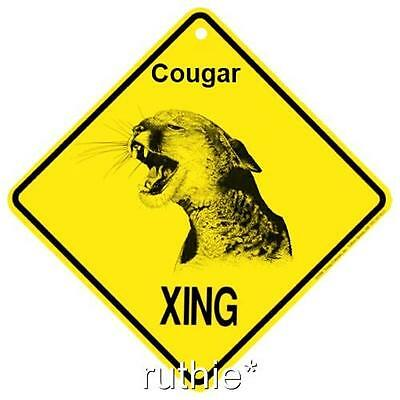 Cougar Crossing Xing Sign New Made in USA