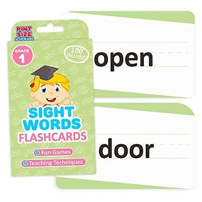 Sight Words Flashcards for Reading Readiness, 100 First Grade Words