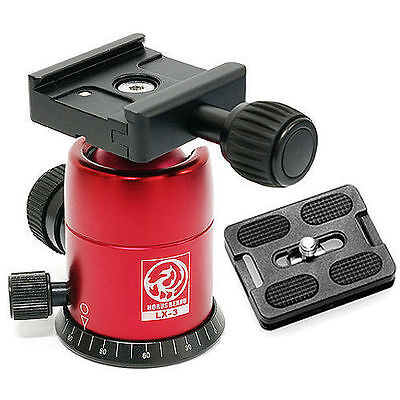 HORUSBENNU-DSLR SLR Camera Monopod Tripod Ball Head LX-3T Red w/ Dovetail Plate