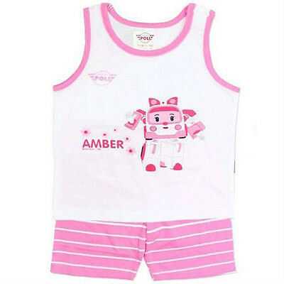 (LAST) Robocar Poli Lucky Sleeveless Pajama Pink for 4~5 years old (standard) (Games For 5 Year Old Girls)