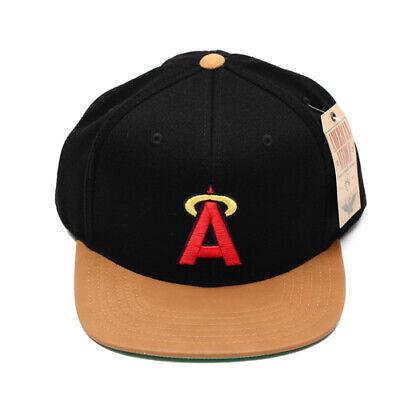 Los Angeles Angels Baseball Flat Brim Black Halo MLB Hat Cap Adjustable - Los Angeles Angels Mlb Baseball