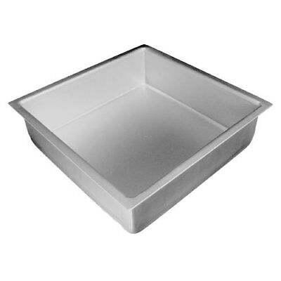 "Fat Daddio's Anodized Aluminum Square Cake Pan, 3"" High"