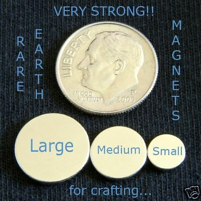 50 - Large Rare Earth Neo Magnets 12 X 116 Inch Disc Round Bottle Caps Etc.