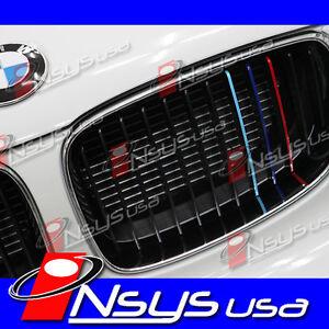 BMW-M-TRI-Color-GRILL-Stripe-M3-M5-M6-1M-X5M-X6M-X1-Z4-E36-90-92-60-F12-13-30-31