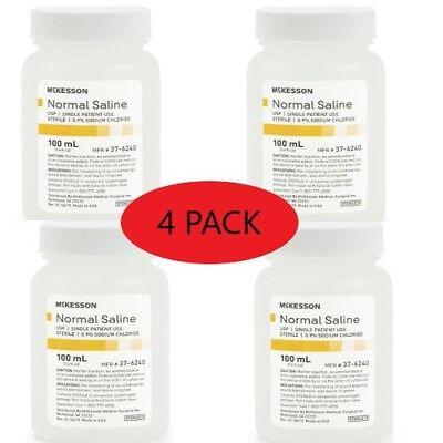 Normal Saline Usp Solution Sodium Chloride 0.9solution Bottle100ml Pack Of 4
